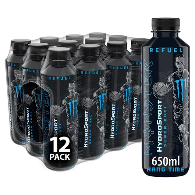 MONSTER HYDROSPORT HANG TIME SPORTS ENERGY DRINK £1.49 (12 BOTTLES)