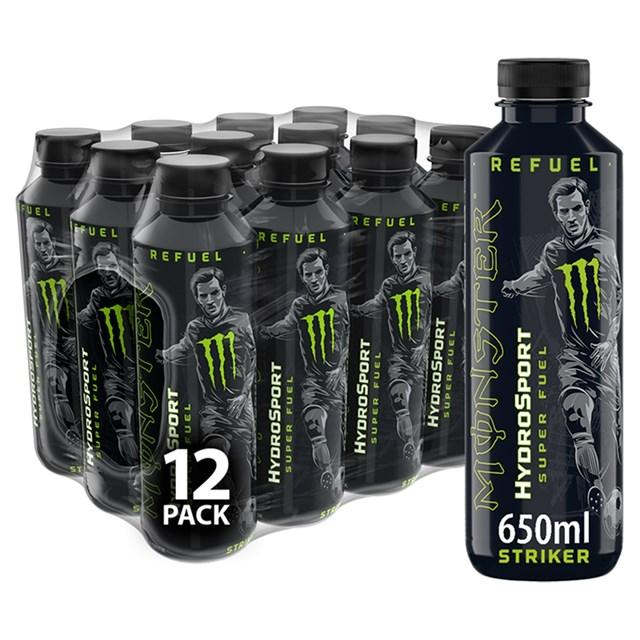 MONSTER HYDROSPORT STRIKER SPORTS ENERGY DRINK £1.49 650ml (12 BOTTLES)