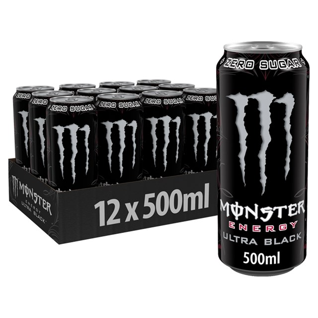 MONSTER ENERGY DRINK ULTRA BLACK 500ml 12 CANS