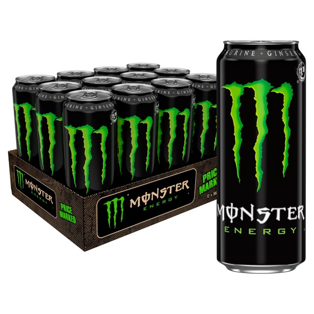 MONSTER ENERGY DRINK £1.45 500ml 12 CANS