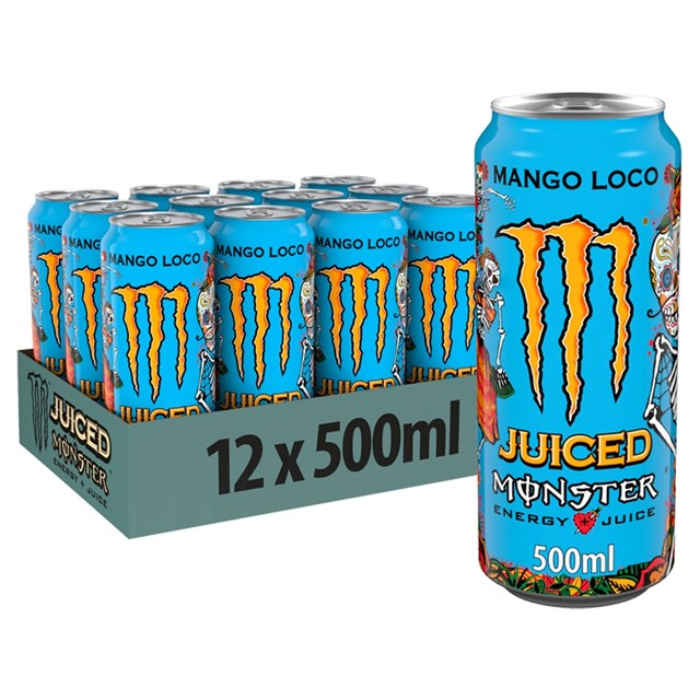 MONSTER ENERGY DRINK MANGO LOCO £1.35 12 CANS
