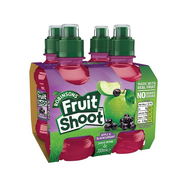 FRUIT SHOOT 4PACK APPLE & BLACKCURRANT