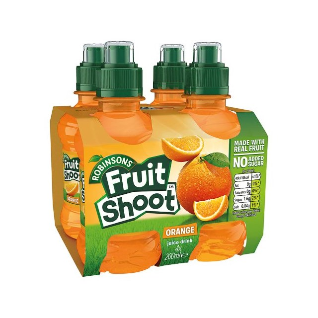 FRUIT SHOOT ORANGE 200ml (6 x 4 PACK)