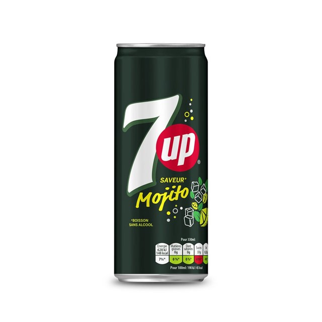 7UP SAVEUR MOJITO FULL SUGAR 33cl (24 PACK)