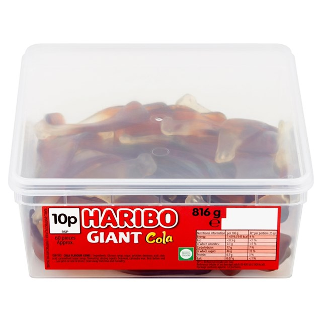 HARIBO 10P GIANT COLA BOTTLES