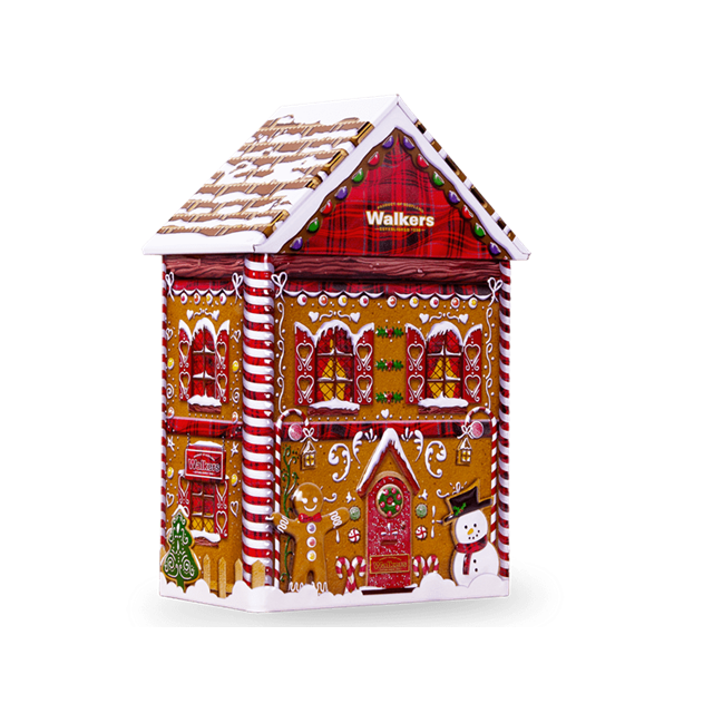 *WALKERS PURE BUTTER SHORTBREAD GINGERBREAD HOUSE TIN 200g
