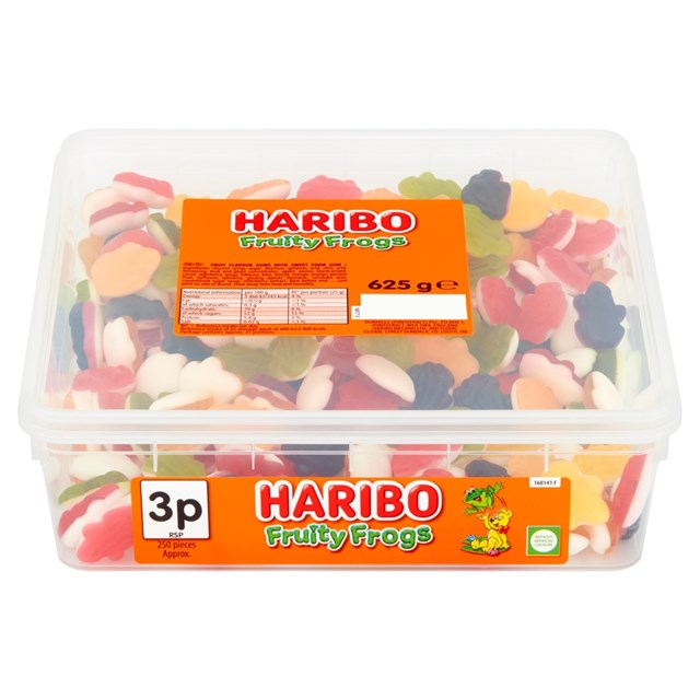 HARIBO TUBS 2P FRUITY FROGS
