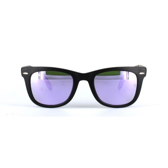 RAY BAN FOLDING SUNGLASSES ICONS BLACK/LILAC 601S4K