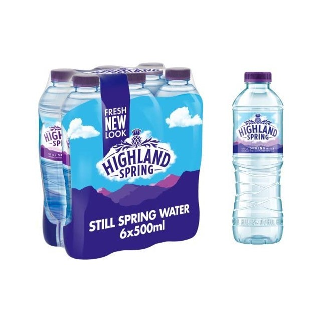 HIGHLAND SPRING STILL WATER 500ml  (6 PACK)
