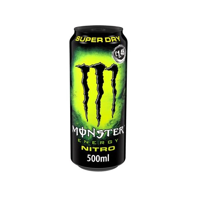 MONSTER ENERGY DRINK NITRO SUPER DRY 500ml £1.45 (12 PACK)