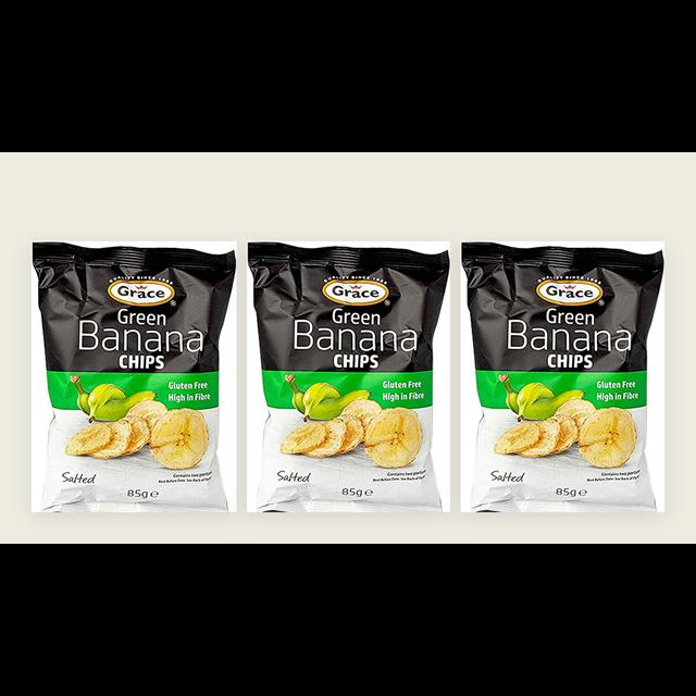 GRACE GREEN BANANA CHIPS 85g (3 PACK)
