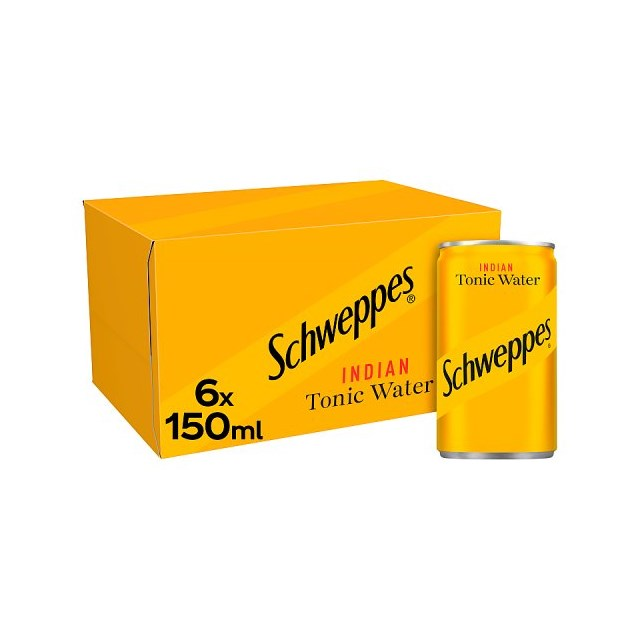 SCHWEPPES TONIC WATER CANS 150ml (4 x 6 PACK)