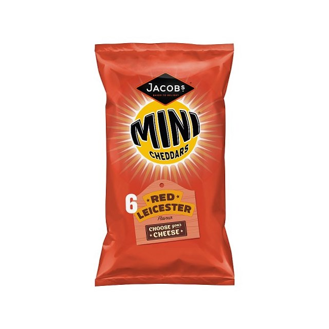 MINI CHEDDARS RED LEICESTER (12 x 6 PACK)