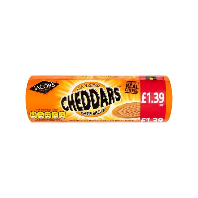 MCVITIES CHEDDARS 150g £1.39 (12 Pack)