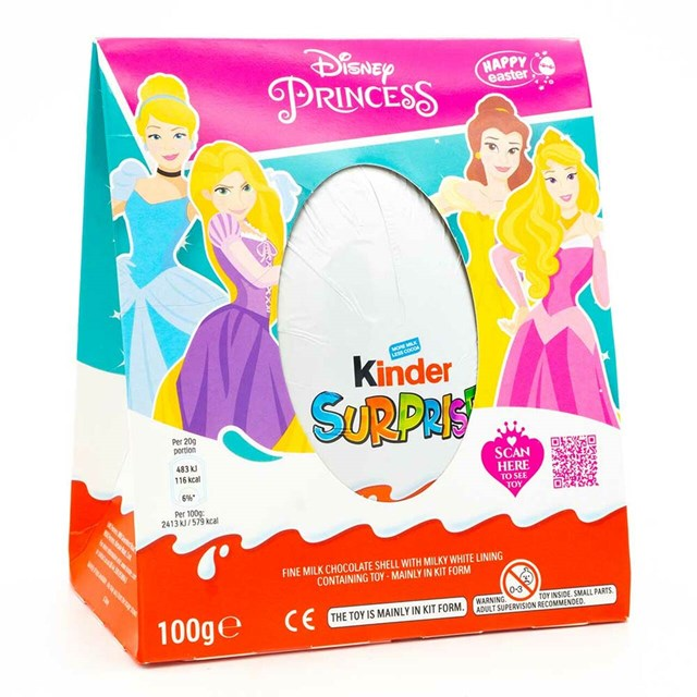 KINDER SURPRISE PRINCESS MAXI 100g Larger Egg larger Toy