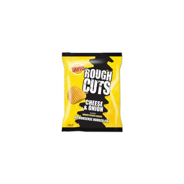 TAYTO ROUGH CUTS CHEDDAR & ONION 50G