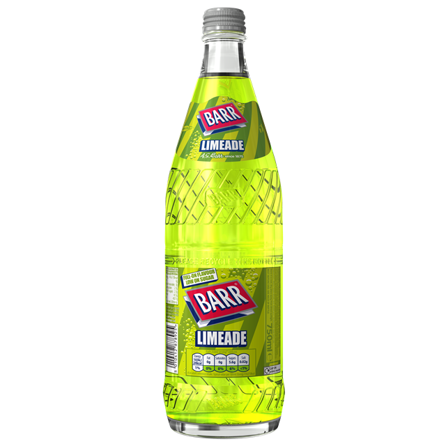 BARRS GLASS 750ML LIMEADE