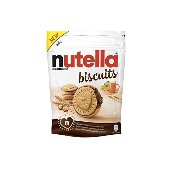 NUTELLA BISCUITS 304g (10 PACK) MARCH DATED FREE UK SHIPPING