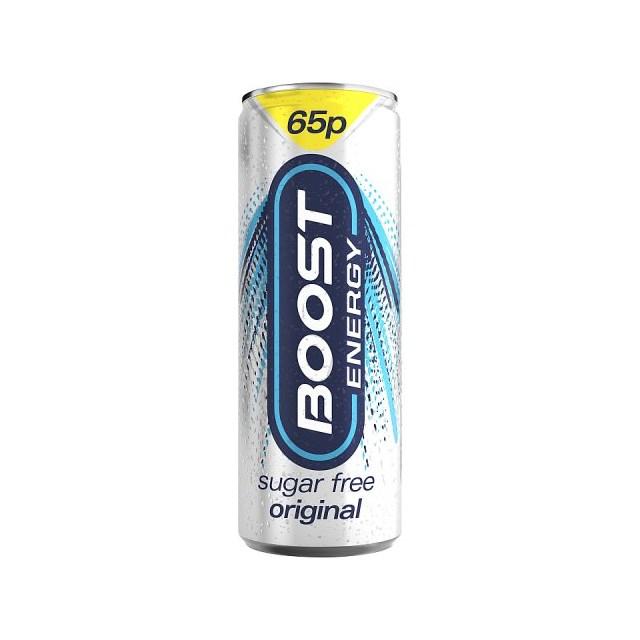 BOOST ENERGY DRINK SUGAR FREE 250ml 59P (24PACK)