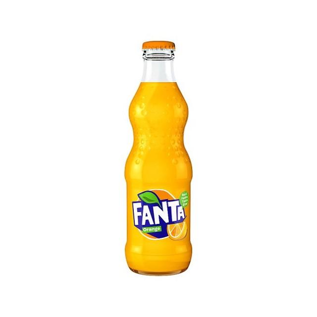 FANTA ORANGE GLASS 330ml (24 PACK)