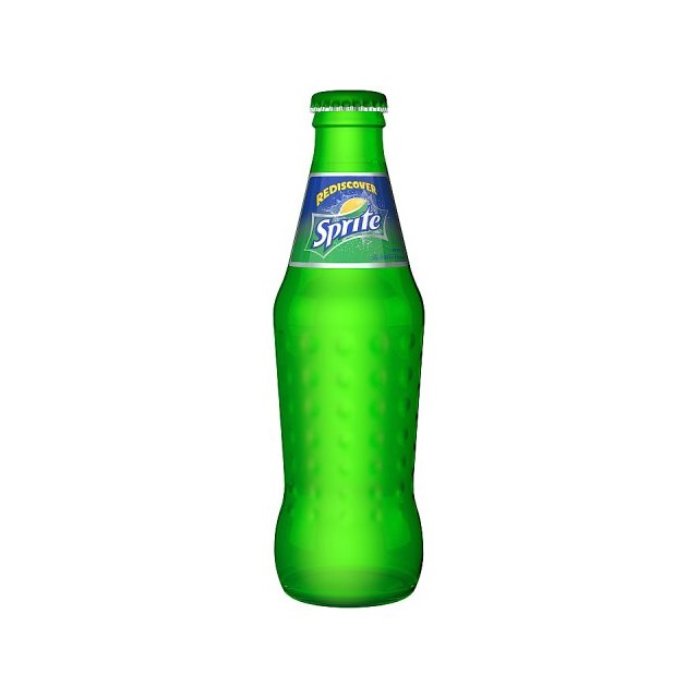 SPRITE ZERO GLASS BOTTLES AUGUST DATED