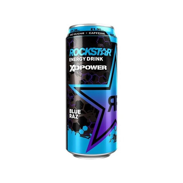 ROCKSTAR ENERGY DRINK XDPOWER BLUE RAZ 500ml 200mg CAFFEINE BCAA £1.35