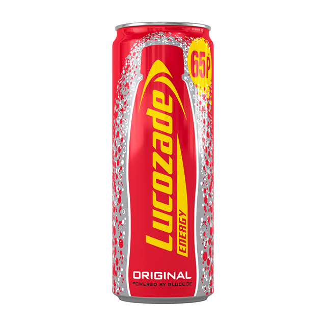 LUCOZADE ENERGY DRINK ORIGINAL 250ml 65p (24 PACK)