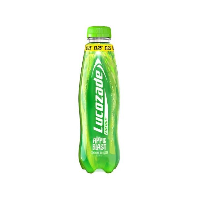 LUCOZADE ENERGY APPLE BLAST 380ml £1.19 2 FOR £2.20 (12 PACK)