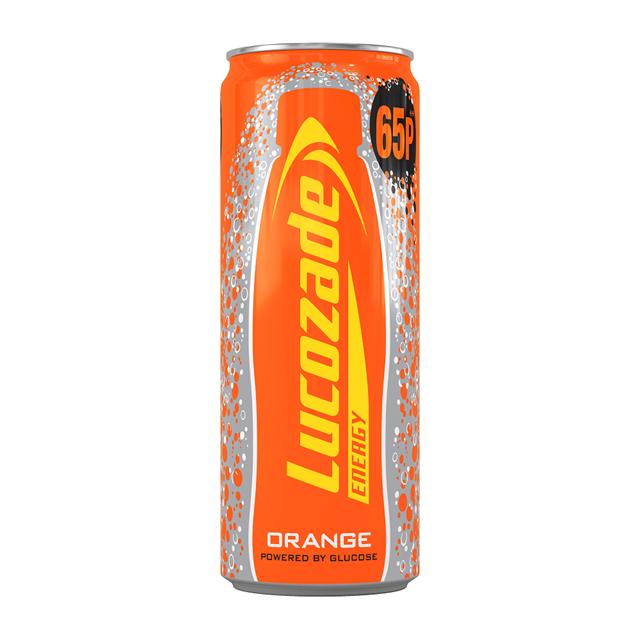 LUCOZADE ENERGY DRINK ORANGE 250ml 65p (24 PACK)