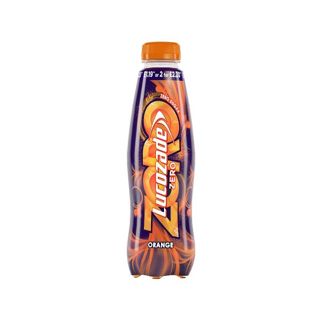 LUCOZADE £1.09/2FOR£2 ZERO ORANGE MAY DATED