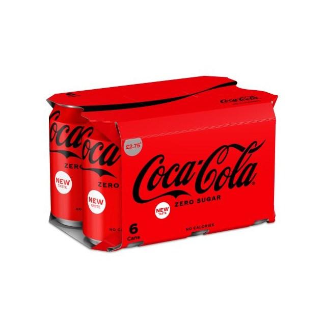 COCA COLA ZERO SUGAR 330ml £1.75 (4 x 6 PACK)