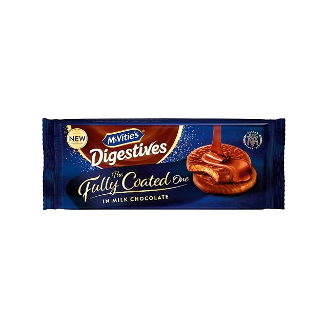 MCVITIES FULLY COATED DIGESTIVES 300g (12 PACK)