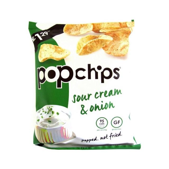 POPCHIPS £1.29 SOUR CREAM & ONION