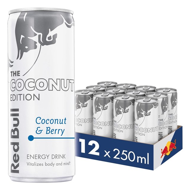 RED BULL ENERGY DRINK EDITIONS COCONUT 250ML £1.35 (12 PACK)