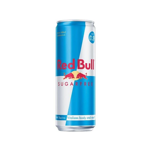 RED BULL ENERGY DRINK SUGAR FREE 355ml £1.59 (12 PACK)