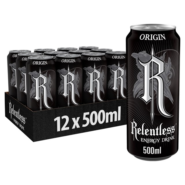 RELENTLESS ENERGY DRINK ORIGIN £1