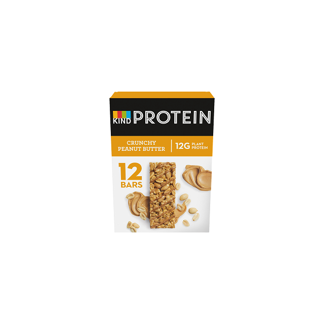 KIND PROTEIN CRUNCHY PEANUT BUTTER 50g (12 PACK) 25 JUNE DATED