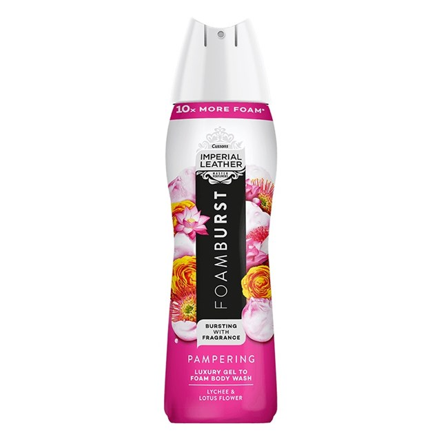 IMPERIAL LEATHER FOAM BURST PAMPERING
