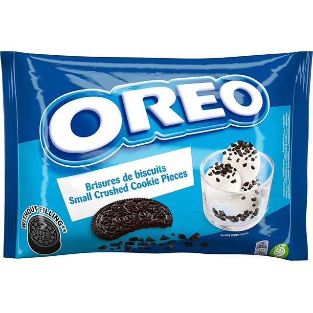 OREO CRUSHED COOKIE PIECES WITHOUT FILLING FOR BAKING 400g