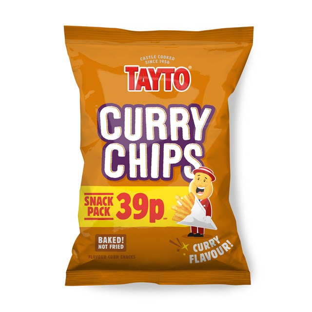 TAYTO 39P CURRY CHIPS 36 PACKS