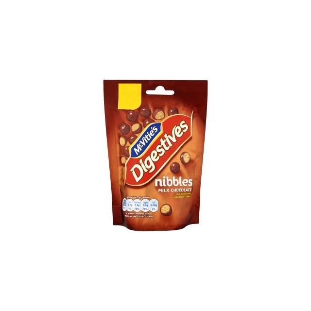 MCVITIES NIBBLES £1 MILK CHOCOLATE