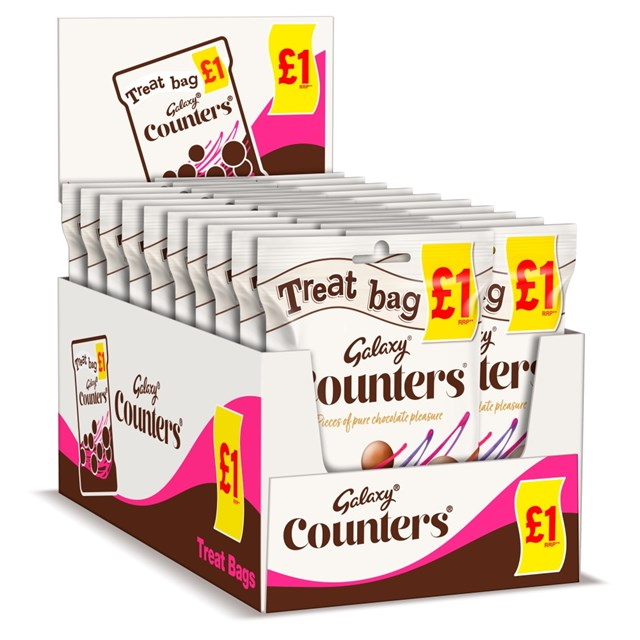 GALAXY COUNTERS TREAT BAG  78g £1 (20 PACK)