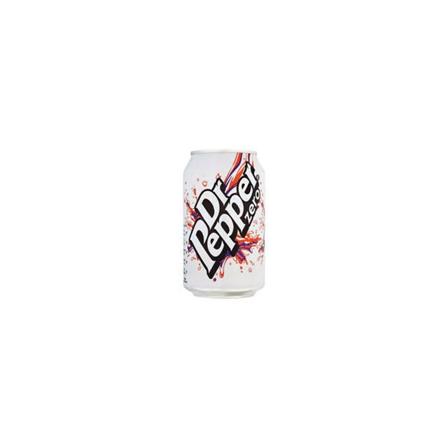 DR PEPPER ZERO CANS 330ml (24 PACK)