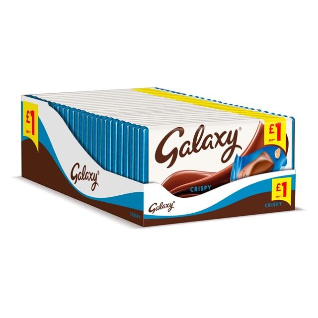 GALAXY CRISPY 102g £1 (24 PACK)