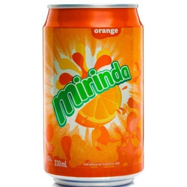 MIRANDA ORANGE FULL SUGAR 330ML CANS (24 PACK)