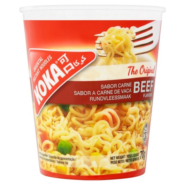 KOKA CUP NOODLES BEEF 70g (12 PACK)