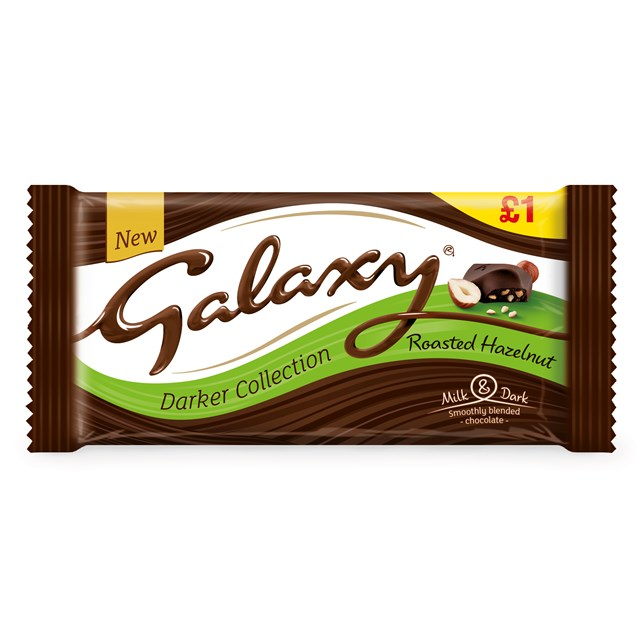 GALAXY £1 DARKER MILK ROASTED HAZELNUT