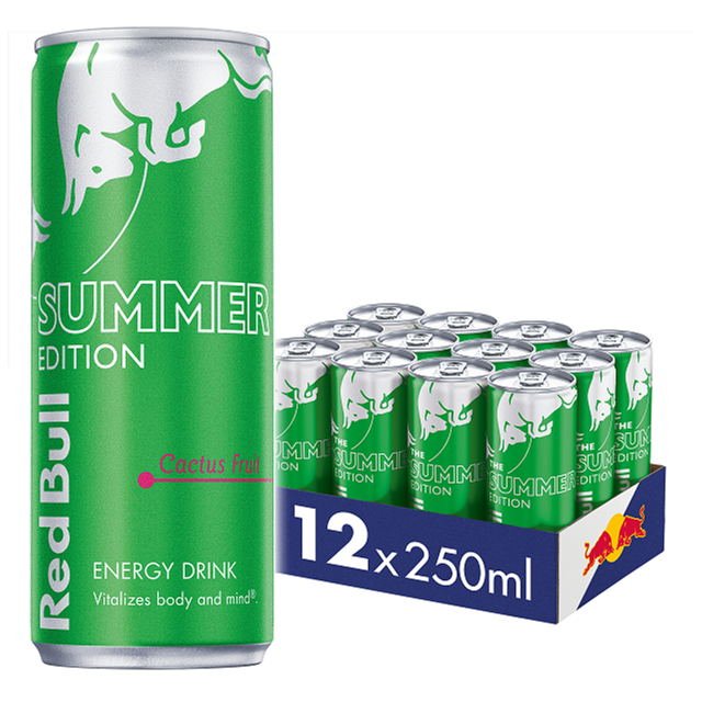 RED BULL ENERGY DRINK EDITIONS CACTUS 250ml £1.35 (12 PACK)
