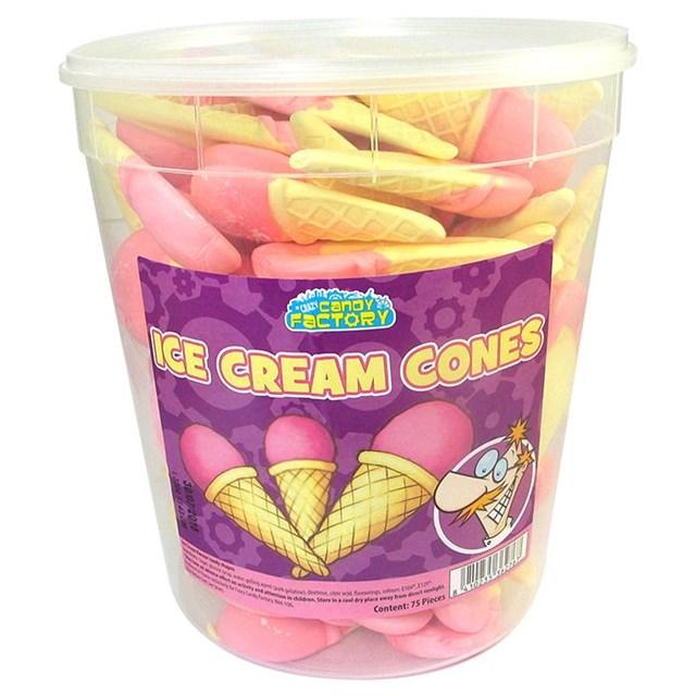 CANDY FACTORY ICE CREAM CONES 950g 75 Pieces