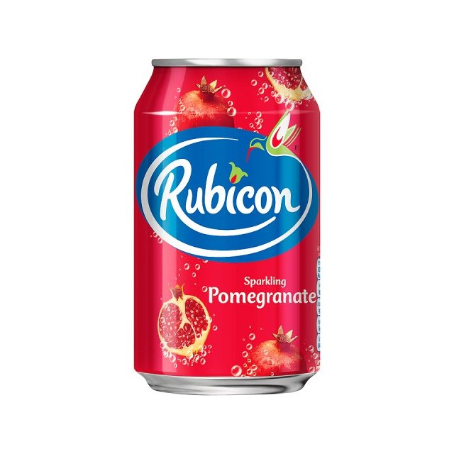 RUBICON SPARKLING POMEGRANATE FIZZY DRINK CANS 330ml (24 PACK)